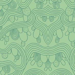 Cactus Abstract   Green