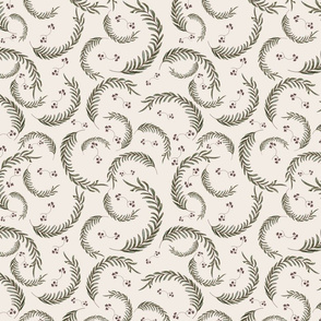 Wildflower Fern Leaves-Cream