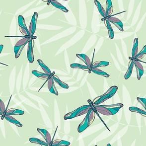 Bamboo dragonflies green