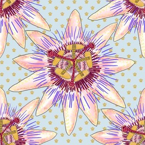 Royal Passionflower N1 (dusty blue)