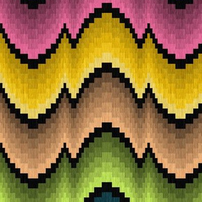 Many Color Bargello