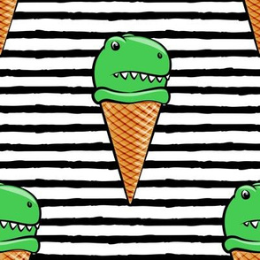 (large scale) trex icecream cones