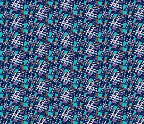 Barkcloth blue fabric by dustydiscoball on Spoonflower - custom fabric