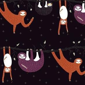 zombie sloth apocalypse - eggplant
