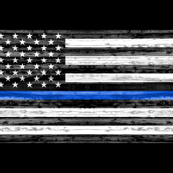 "(56"" width) thin blue line - police"