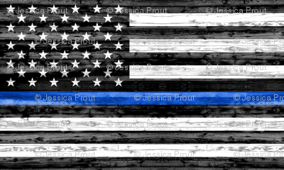 "(30""x18"") thin blue line panel - police"