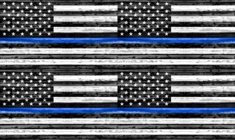"(30""x18"") thin blue line panel - police fabric by littlearrowdesign on Spoonflower - custom fabric"
