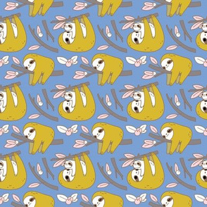 Sloth Pattern in Blue small
