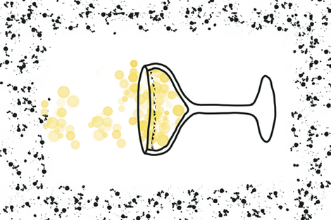 Pop the cork for bubbly! fabric by jerseymurmurs on Spoonflower - custom fabric
