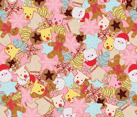 Christmas Cookies fabric by jofryerdesigns on Spoonflower - custom fabric