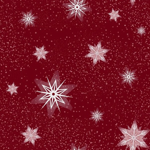 Snowflakes 2 Red