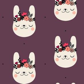 Happy Bunny - Plum
