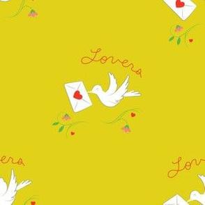 Love Birds Large Mustard