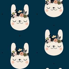 Happy Bunny - Blue