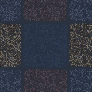Navy Blue Abstract Geo Doodle Square Grid