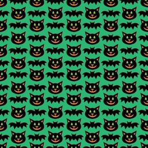 aloha cat and bat washi on green