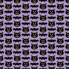 aloha cat and bat washi on light grape
