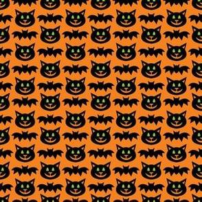 aloha cat and bat washi on orange