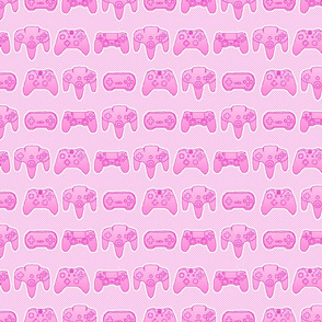 gaming controllers pink