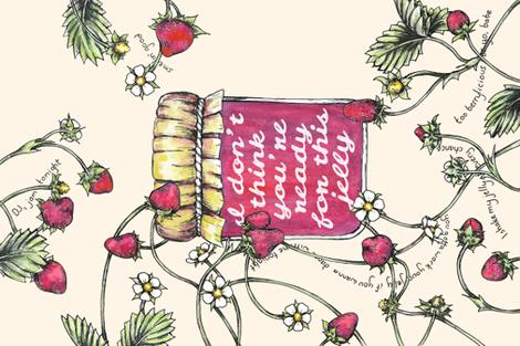 Berrylicious is My Jam fabric by redpumpkinstudio on Spoonflower - custom fabric