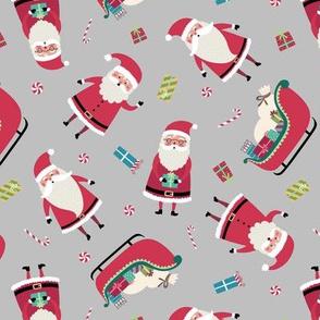 Santa w/ Gifts - Gray