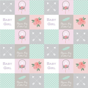 Fabric Pattern - Girl Quilt