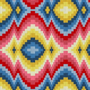 Pink and Blue Baby Bargello 2