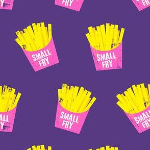 small fry - pink on purple