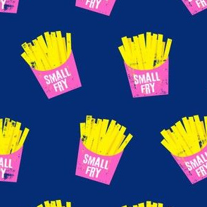small fry - pink on blue