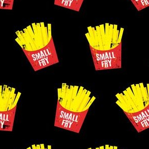 small fry - red on black