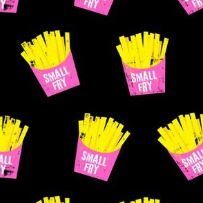 small fry - pink on black
