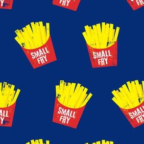 small fry - red on blue