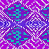 Tribal Checkerboard Turquoise