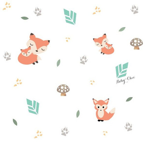 Fabric Pattern - Fox Woodlands