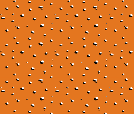 Pebbles and their Shadows - russet orange fabric by penina on Spoonflower - custom fabric