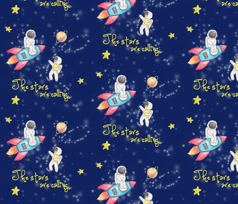 The Stars Are Calling  fabric by pinksparkle on Spoonflower - custom fabric
