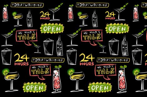 Retro Neon Bar fabric by candice_kim on Spoonflower - custom fabric