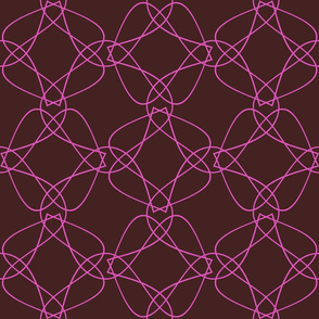 Tangly Lines - Q - Pink Brown