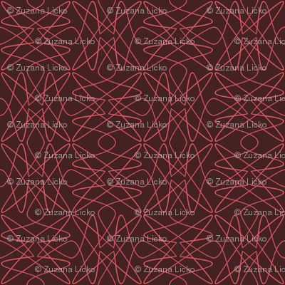 Tangly Lines - S - PinkBrown