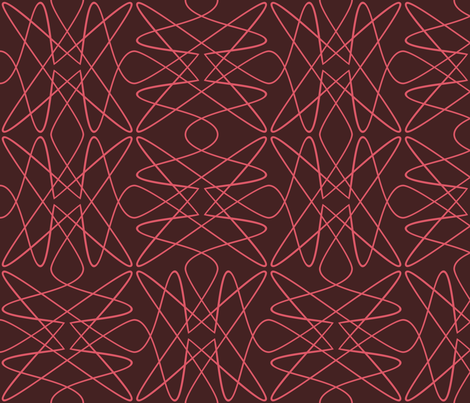 Tangly Lines - S - PinkBrown fabric by zuzana_licko on Spoonflower - custom fabric