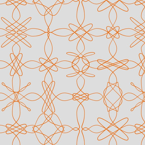 Tangly Lace - Orange Grey