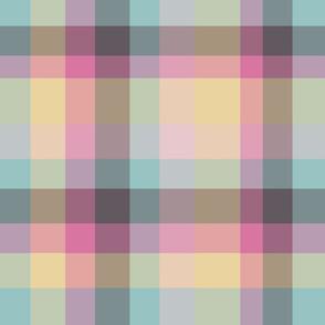 Modern Plaid - Blue Yellow Pink