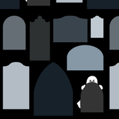 ghostly tombstones
