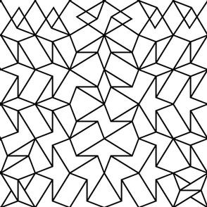 Angled Weave - Black + White