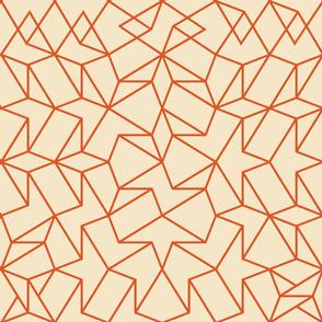 Angled Weave - Cream Orange