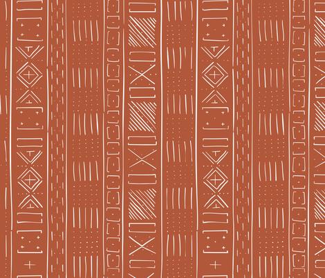 Mudcloth Medium (Rust) fabric by michelleaitchison on Spoonflower - custom fabric