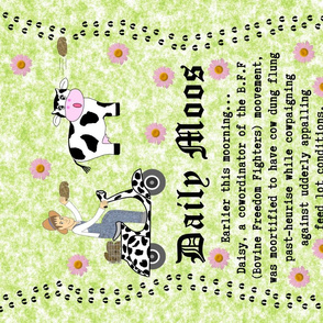 Daily Moos Pun Fun Tea Towel