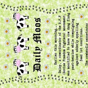 Daily Moos Pun Tea Towel