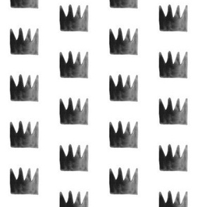 Watercolour crowns - small