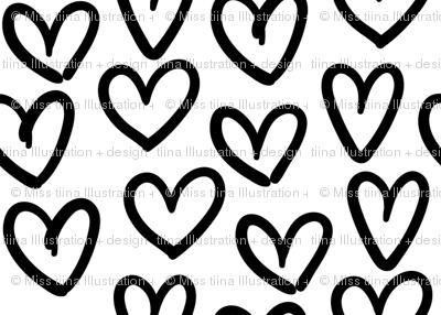 hearts :: marker doodles